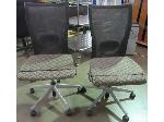 Lot: 57-053 - (2) Vented Back Office Chairs