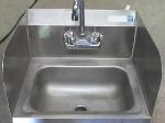 Lot: 57-062 - Wall Mount Stainless Steel Sink w/ Faucet