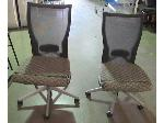 Lot: 57-066 - (2) Vented Back Office Chairs