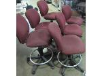Lot: 57-109 - (6) Rolling Chairs w/ Foot Rails