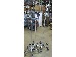 Lot: 57-121 - (3) IV Stands/ Carts
