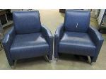 Lot: 57-129 - (2) Patterned Vinyl Chairs