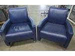 Lot: 57-130 - (2) Patterned Vinyl Chairs