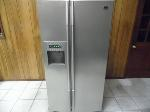 Lot: A7318 - Working LG Titanium Side by Side Refrigerator