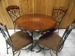 Lot: A7320 - Set of Wrought Iron Table and Chairs