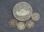 Lot: 5993 - 1 OZ. SILVER, MERCURY DIMES & FOREIGN COIN