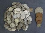Lot: 5998 - APPROX. (350) DIMES & (5) FOREIGN COINS
