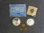 Lot: 6043 - SILVER EAGLE DOLLARS, PENNIES & FOREIGN COINS