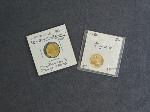 Lot: 6055 - (2) GOLD 1/10 OZ. U.S. $5 COINS