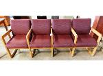 Lot: 02-21073 - Waiting Room Seating - (4) Connected Chairs