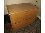 Lot: 22&23 - Wood Cabinet & Wood Bookshelf
