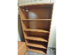 Lot: 26&27 - Wood Bookshelf & Wood File Cabinet
