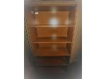 Lot: 35&36 - Wood Bookshelf & L-shaped Desk w/ Hutch