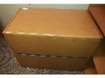Lot: 47-49 - L-shaped Desk w/ Hutch & (2) Wood File Cabinets