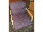 Lot: 53-56 - Wood File Cabinet, Computer Desk & (2) Office Chairs