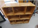 Lot: 63&79 - Wood Cabinet & Round Table