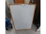 Lot: 86-88 - Wooden Marker Board & (2) Wooden Shelves