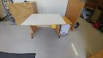 Lot: 96 - Wooden Table on Rollers