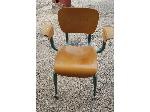 Lot: 13,14&15 - Wood Podium, Desk & (2) Rolling Desk Chairs