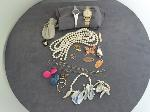 Lot: 178 - WATCH, NECKLACES, EARRINGS, 10K RING & 14K NECKLACE