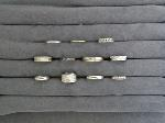 Lot: 6139 - PLATINUM, 18K, 14K & 10K RINGS