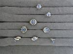 Lot: 6153 - STERLING, 10K, 14K & PLATINUM RINGS