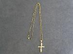 Lot: 6169 - NECKLACE WITH 14K CROSS PENDANT