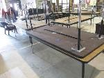 Lot: 11&12 - (5) Elementary Height Wood Tables & File Cabinet