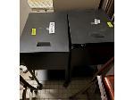 Lot: 43&44.SPE - BOOKSHELF, FILE CABINETS, SIGNS & (2) TABLES & DESK