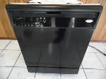 Lot: A7412 - Working Whirlpool Gloss Black Dishwasher