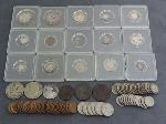 Lot: 6216 - HALVES, DIMES, NICKELS, PENNIES & FOREIGN COINS