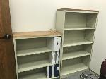 Lot: 2,3&4.TPW - Printer Stand, Rolling Cart, Desk & (2) Bookcases
