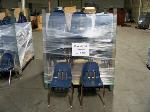 Lot: 408 - (40) SMALL BLUE STUDENT CHAIRS
