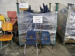 Lot: 409 - (45) SMALL BLUE STUDENT CHAIRS