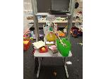 Lot: 11&12.BE - Small Desk, Child Care Blocks, Mats & (2) Couches