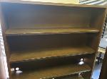 Lot: 19&20.BE - (3) Chairs, (11) Overhead Cabinets, Table, Workbench, Bookshelf & Ladder