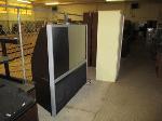 Lot: 43.SP - TV, Metal Stand, Bookshelves, Desks, Hutches, Table, File Cabinet, Video Camera
