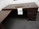 Lot: 61.UV - (2) Ceramic Planters (2) Desks, (6) Chairs