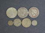 Lot: 6316 - PEACE DOLLARS & FOREIGN COINS