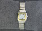 Lot: 328A - LADIES CARTIER WATCH 18K & STAINLESS
