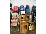 Lot: 727 - (64 APPROX) DIFFERENT COLORS AND WOOD CHAIRS