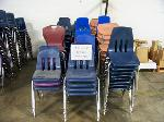 Lot: 730 - (130 APPROX) DIFFERENT COLORS AND SIZES CHAIRS