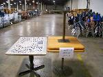 Lot: 731 - (3) WOOD TABLES