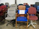 Lot: 733 - (15 APPROX) DIFFERENT COLORS AND SIZE OF OFFICE CHAIRS