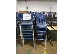 Lot: 736 - (190 APPROX) MIDDLE SIZE BLUE CHAIRS
