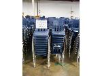 Lot: 737 - (190 APPROX) MIDDLE SIZE BLUE CHAIRS