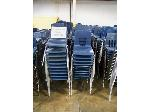 Lot: 738 - (190 APPROX) MIDDLE SIZE BLUE CHAIRS