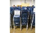Lot: 740 - (190 APPROX) SMALL SIZE BLUE CHAIRS