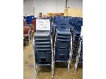 Lot: 741 - (190 APPROX) SMALL SIZE BLUE CHAIRS