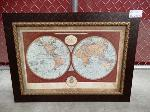 Lot: 02-21342 - Framed Map of The World